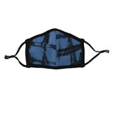 Reversible Organic Face Mask in Abyss Plaid