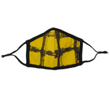 Reversible Organic Face Mask in Citrine Plaid
