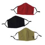 3-Pack, Reversible Organic Thermal Face Masks in Thermal '20