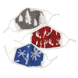 3-Pack, Reversible Organic Winter Face Masks