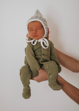 Organic Footed Overall in Sage, Lifestyle lexi_shanklin@yahoo.com
