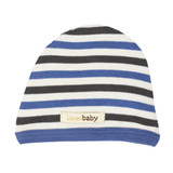 Organic Cute Cap in Slate Stripe, Flat