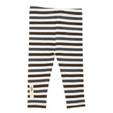 Organic Leggings in Gray Stripe, Flat
