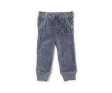 Organic Velour Joggers in Light Gray, Flat