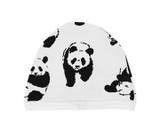 Organic Cute Cap in White Panda, Flat
