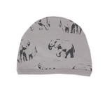 Organic Cute Cap in Light Gray Elephant, Flat