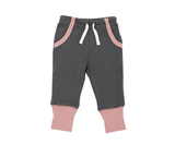 Organic Jogger Pants in Mauve/Gray, Flat