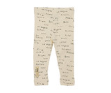 Organic Leggings in Beige City Names, Flat