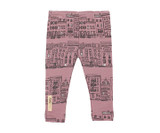 Organic Leggings in Lavender City Block, Flat