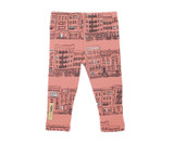 Organic Leggings in Coral City Block, Flat