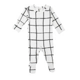 Organic Graphic Footie in Hopscotch, Flat