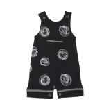 Organic Sleeveless Romper in Spheres, Flat