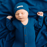 Organic Thermal Cute Cap in Sapphire, Lifestyle