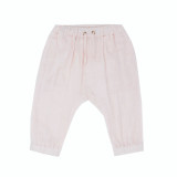 Organic Muslin Harem Pants in Blush, Flat