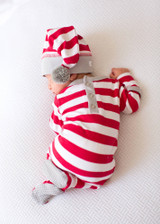 Organic Overall & Cap Set in Candy Cane Stripe, Organic Overall & Cap Set in Candy Cane Stripe, Lifestyle