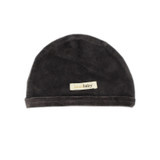Organic Velour Cute Cap in Coal