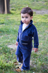 Organic Track Suit in Navy