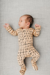 Organic Jumpsuit in Honey Letters, Lifestyle