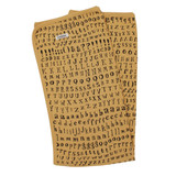 Organic Swaddling Blanket in Honey Letters, Flat