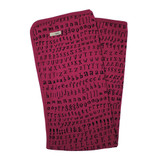 Organic Swaddling Blanket in Magenta Letters, Flat