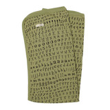 Organic Swaddling Blanket in Sage Letters, Flat