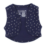 Organic Vest in Navy Dots, Flat