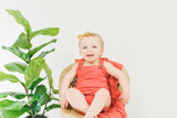 Organic Muslin Overall in Melon, Lifestyle