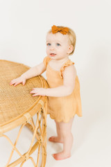 Organic Muslin Tunic Top & Bloomer Bottom Set in Apricot, Lifestyle