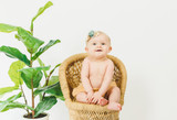 Organic Muslin Shorties in Apricot, Lifestyle