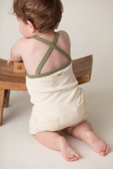 Terry Cloth Overall in Sage, Lifestyle