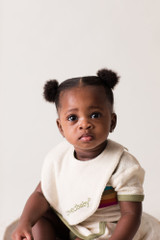 Terry Cloth Reversible Bib in Sage, Lifestyle