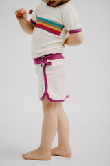 Kid's Terry Cloth Skort in Magenta, Lifestyle