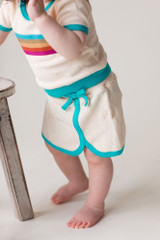 Terry Cloth Skort in Teal, Lifestyle