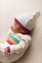Terry Cloth Top-Knot Cap in Magenta, Lifestyle