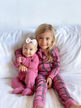 Organic Kids' L/Sleeve PJ Set in Appleberry Plaid, Lifestyle  @lilylikeaflower