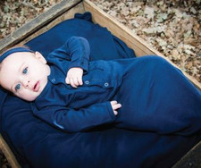 Organic Gown in Navy, Lifestyle