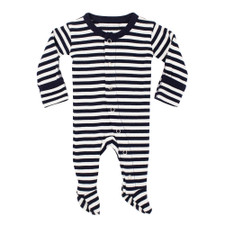 Organic Jumpsuit in Navy/White, Flat