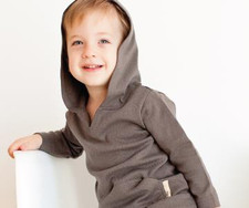 Organic Hoodie in Gray, Lifestyle
