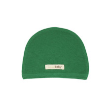 Organic Thermal Cute Cap in Emerald, Flat