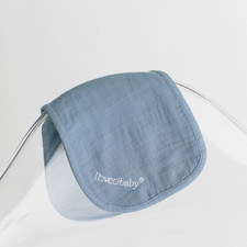 Organic Reversible Muslin Burp Cloth in Slate, Lifestyle