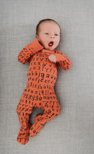Organic Jumpsuit in Maple Letters, Lifestyle