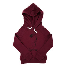 Organic Kids' Graphic Hooded Sweatshirt in Cranberry Beet, Flat