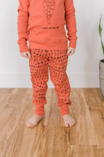 Organic Kids' Jogger Pants in Maple Letters, Lifestyle