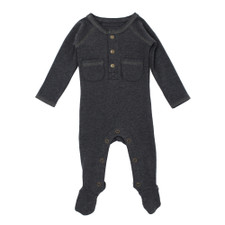 Organic Pocket Jumpsuit in Dark Heather/Gray, Flat