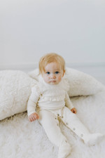 Organic Vintage Overall in Beige, Lifestyle