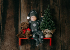 Organic Overall & Cap Set in Frost, Lifestyle