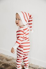 Organic Kids' L/Sleeve PJ & Cap Set in Peppermint Stripe, Lifestyle
