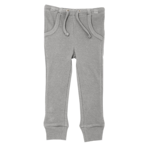 Organic Thermal Kids' Jogger Pants in Mist