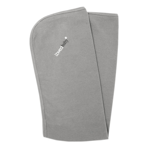 Organic Thermal Swaddling Blanket in Mist