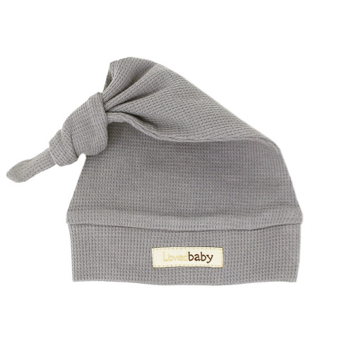 Organic Thermal Knotted Cap in Mist